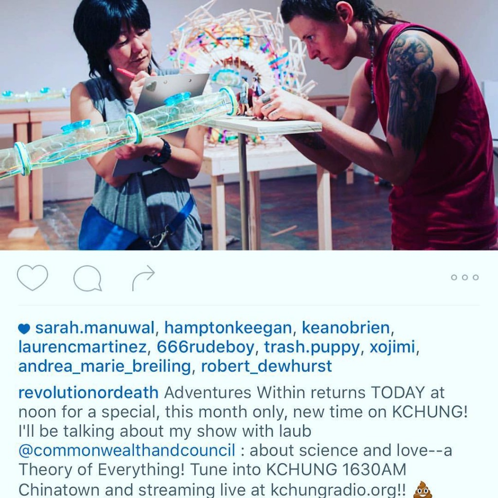 Regram revolutionordeath Jennifer Moon talking about her show today athellip
